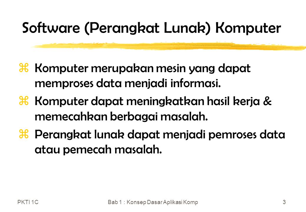 Software (Perangkat Lunak) Komputer