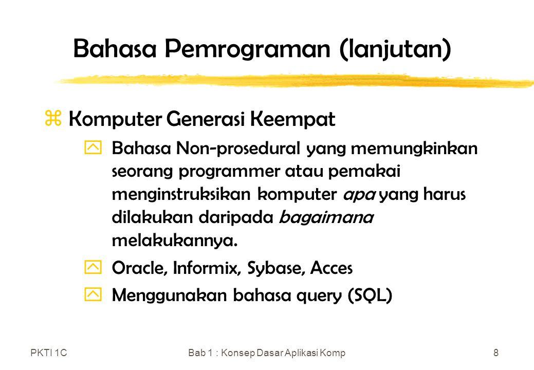 Bahasa Pemrograman (lanjutan)