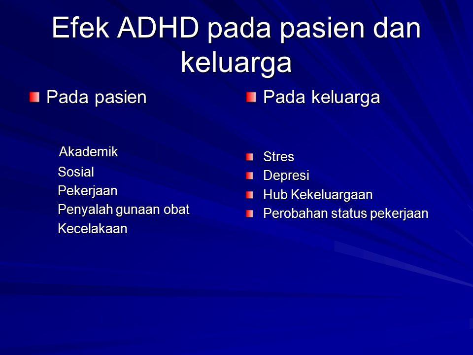 Efek ADHD pada pasien dan keluarga