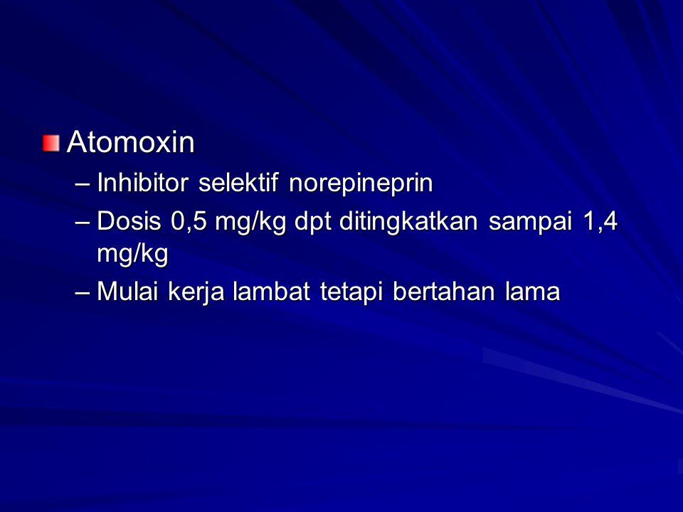 Atomoxin Inhibitor selektif norepineprin