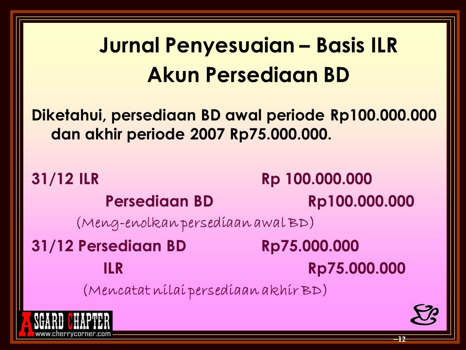 Jurnal Penyesuaian – Basis ILR