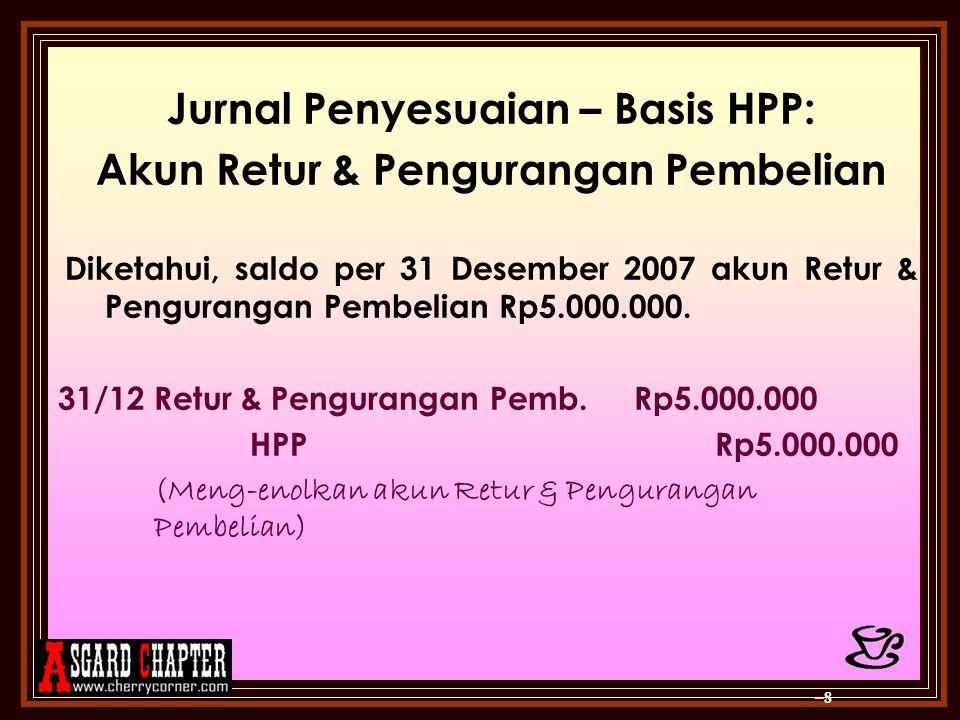 Jurnal Penyesuaian – Basis HPP: Akun Retur & Pengurangan Pembelian