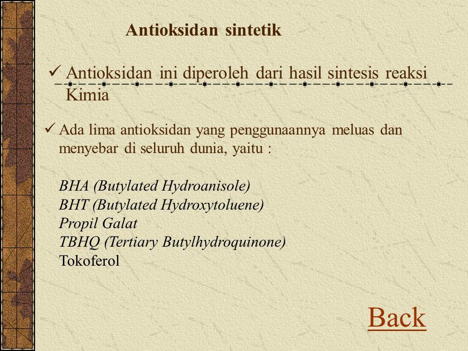 Back Antioksidan sintetik