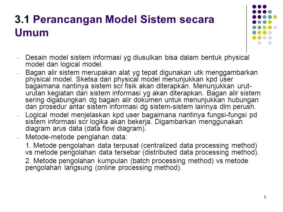 3.1 Perancangan Model Sistem secara Umum