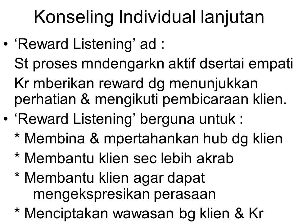 Konseling Individual lanjutan