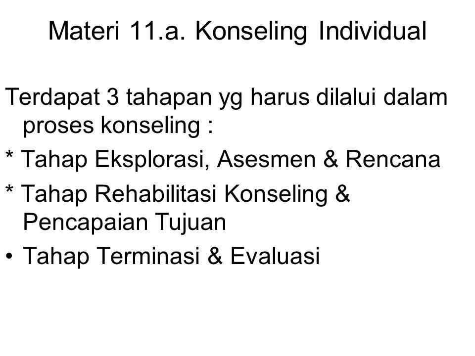 Materi 11.a. Konseling Individual