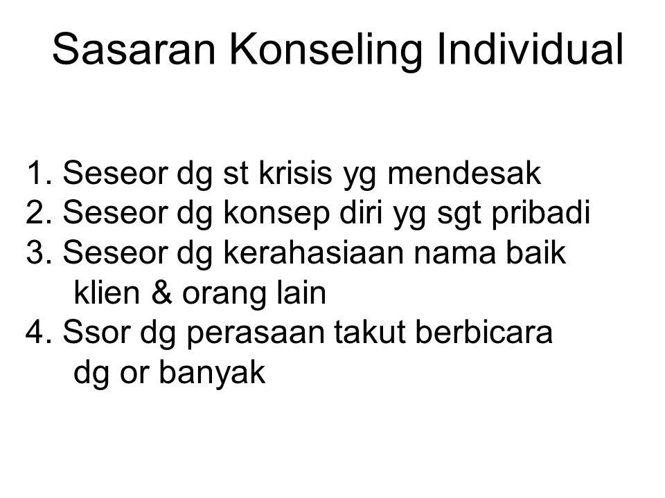 Sasaran Konseling Individual