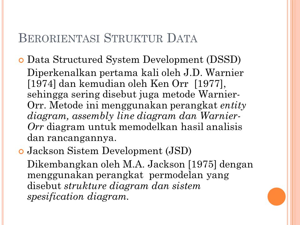 Berorientasi Struktur Data