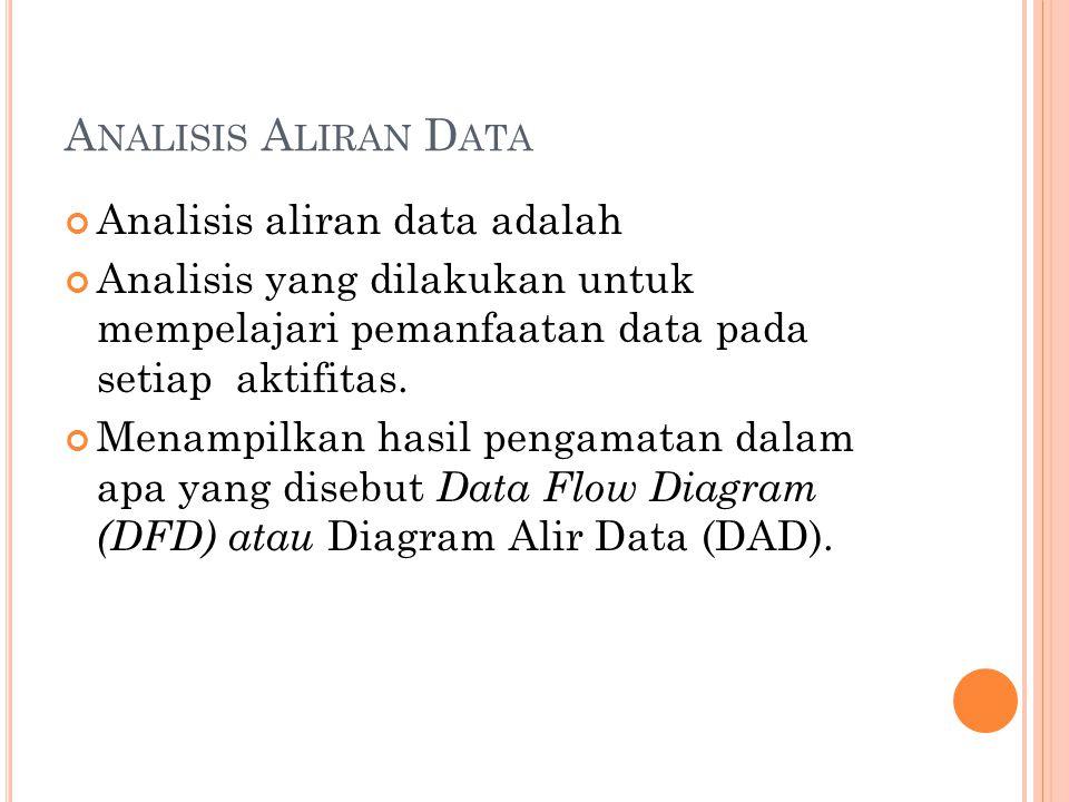 Analisis Aliran Data Analisis aliran data adalah