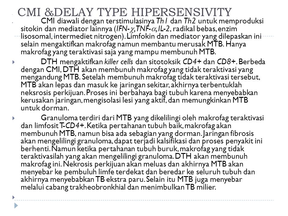 CMI &DELAY TYPE HIPERSENSIVITY