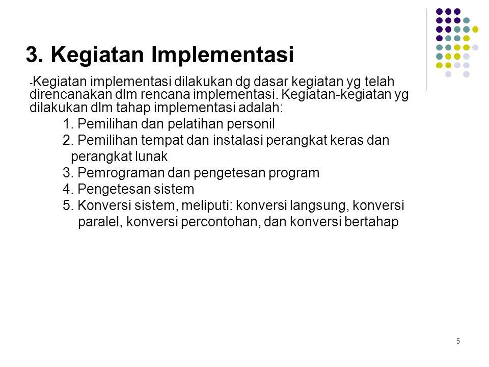 3. Kegiatan Implementasi