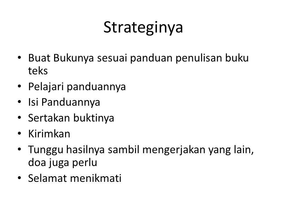 Strateginya Buat Bukunya sesuai panduan penulisan buku teks