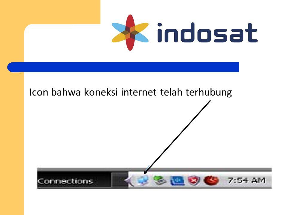 Icon bahwa koneksi internet telah terhubung