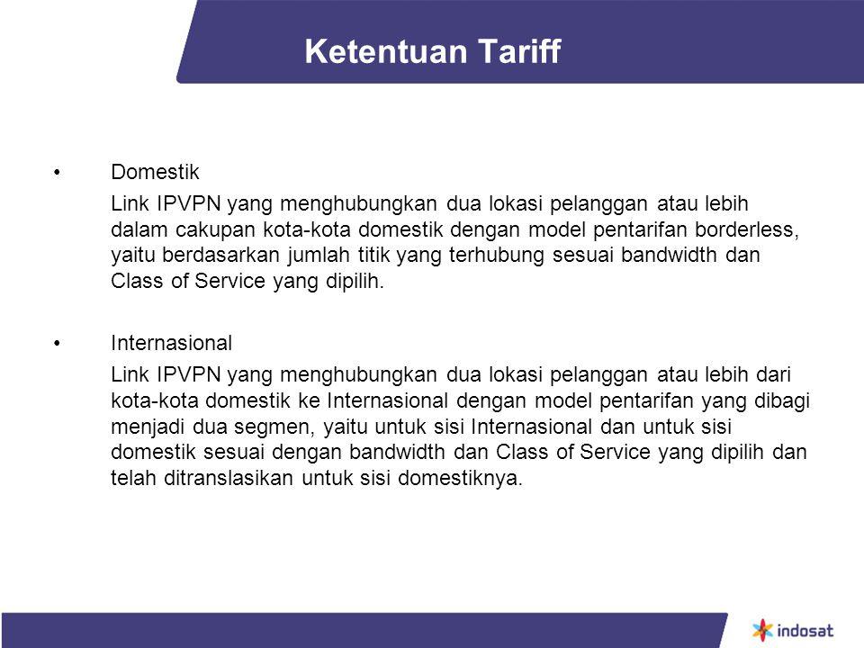 Ketentuan Tariff Domestik