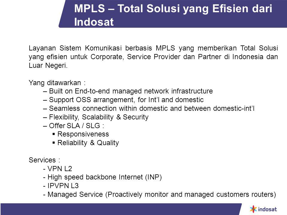 MPLS – Total Solusi yang Efisien dari Indosat