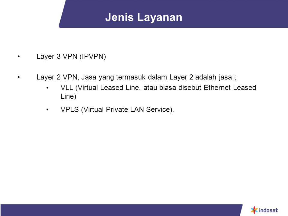 Jenis Layanan Layer 3 VPN (IPVPN)