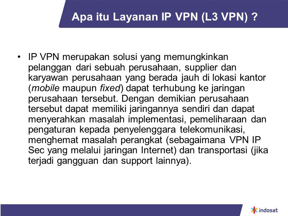 Apa itu Layanan IP VPN (L3 VPN)