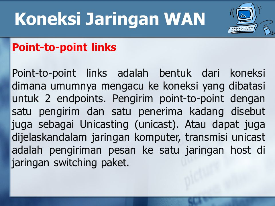 Koneksi Jaringan WAN Point-to-point links