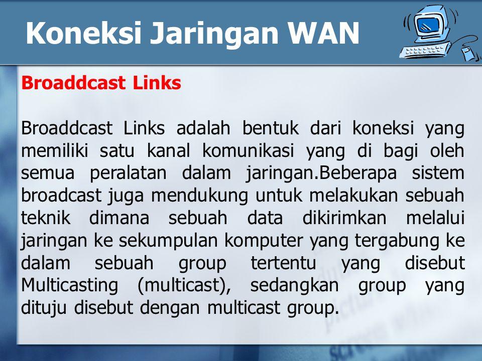 Koneksi Jaringan WAN Broaddcast Links