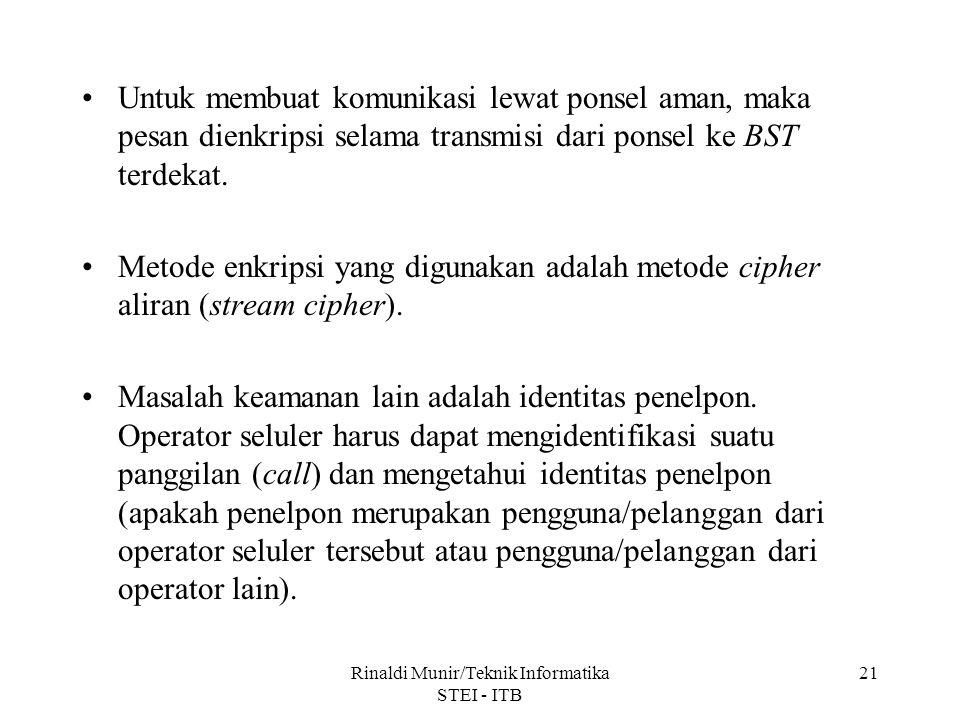 Rinaldi Munir/Teknik Informatika STEI - ITB