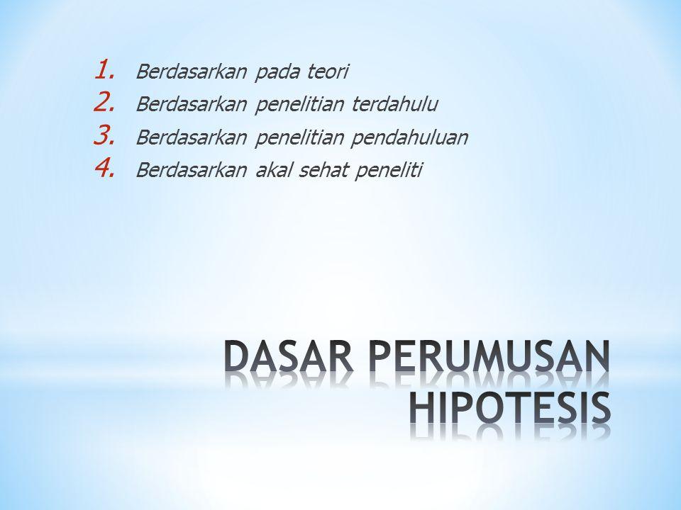 DASAR PERUMUSAN HIPOTESIS