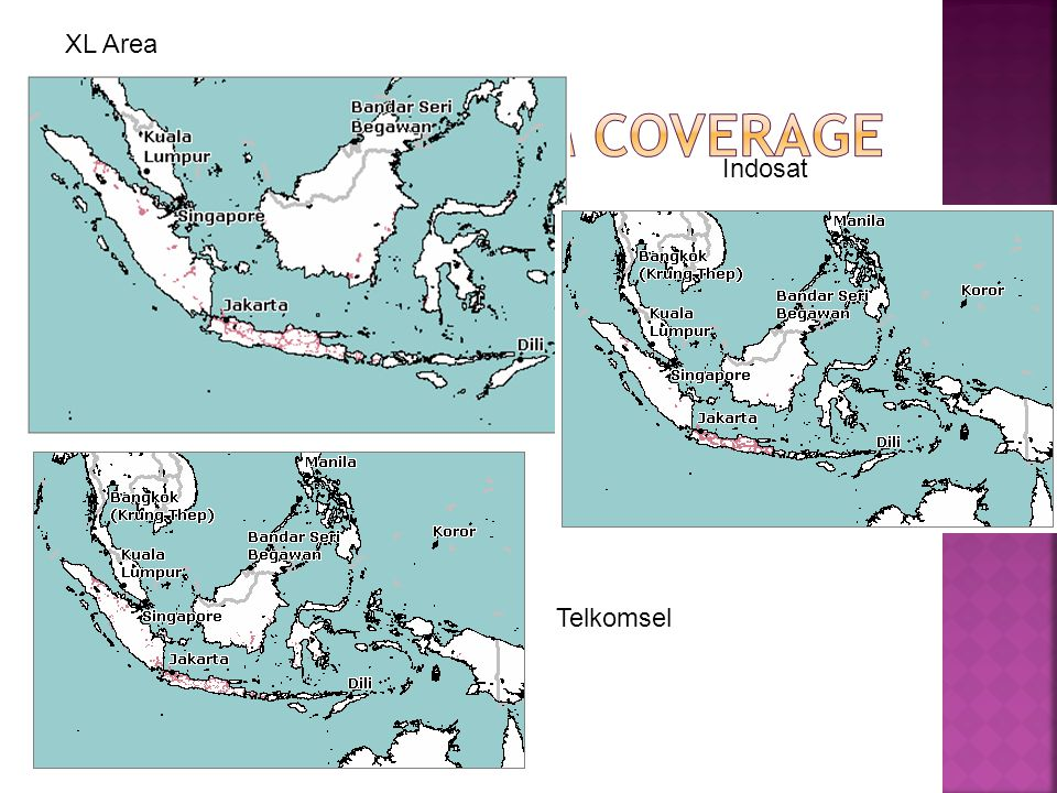 XL Area GSM Coverage Indosat Telkomsel