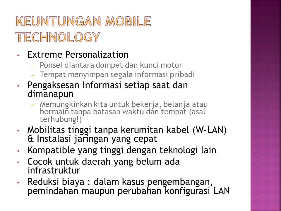 Keuntungan mobile technology