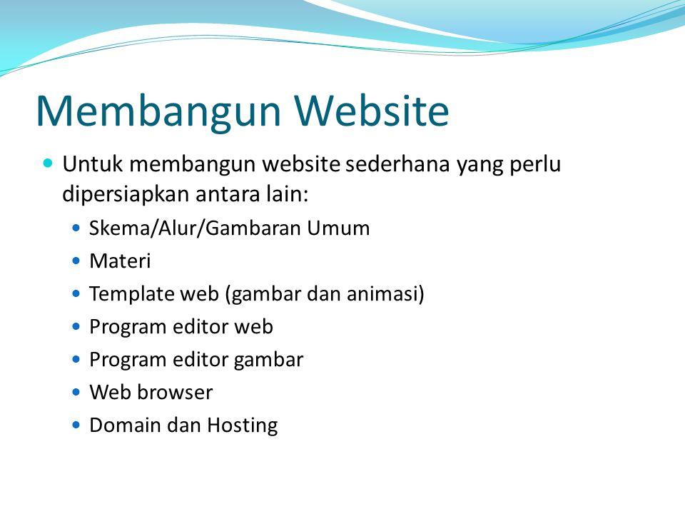 Membangun Website Untuk membangun website sederhana yang perlu dipersiapkan antara lain: Skema/Alur/Gambaran Umum.