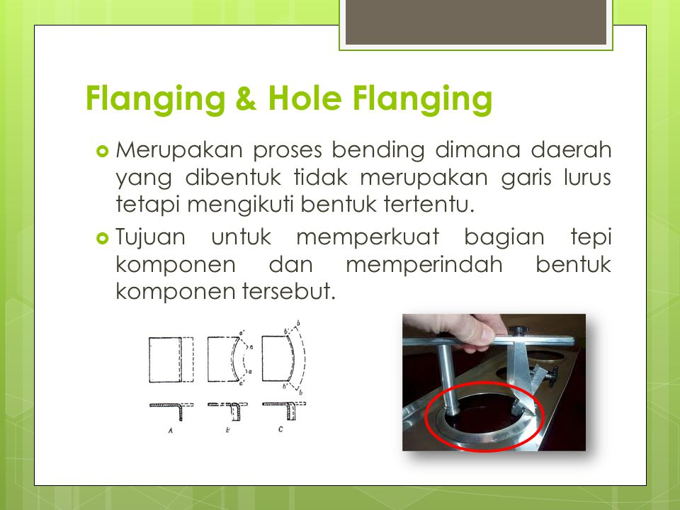 Flanging & Hole Flanging
