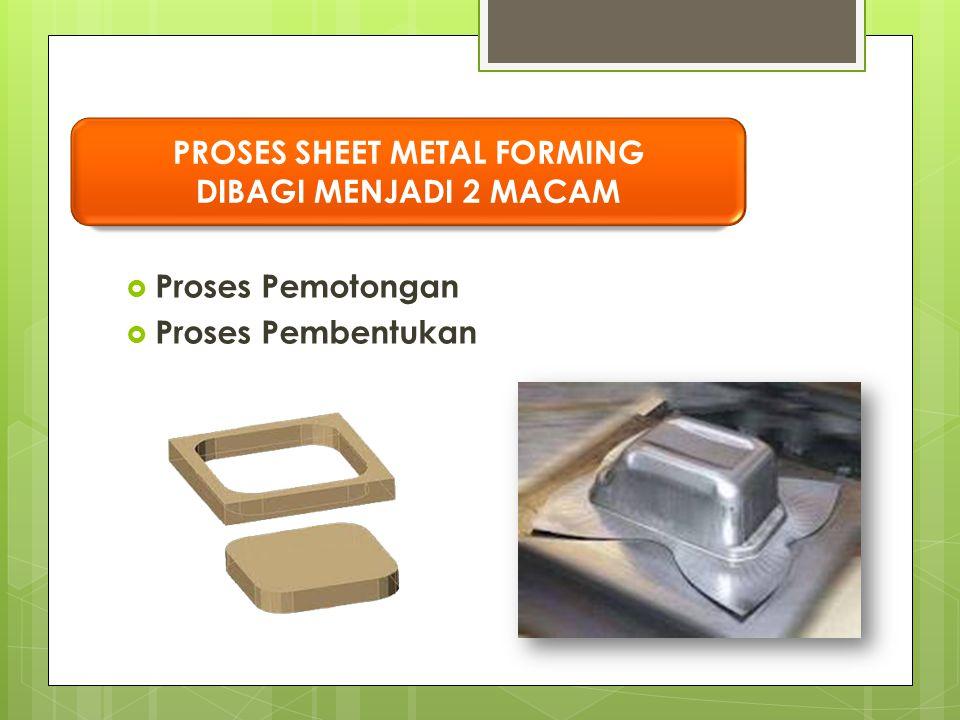 PROSES SHEET METAL FORMING DIBAGI MENJADI 2 MACAM