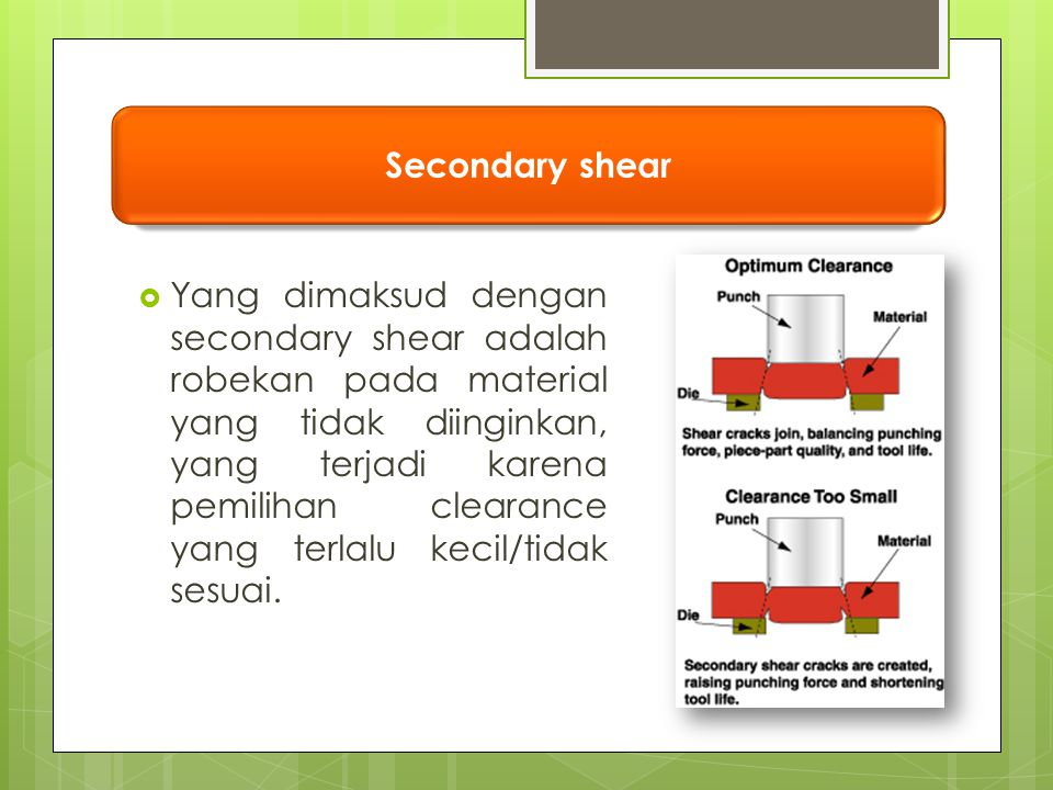Secondary shear