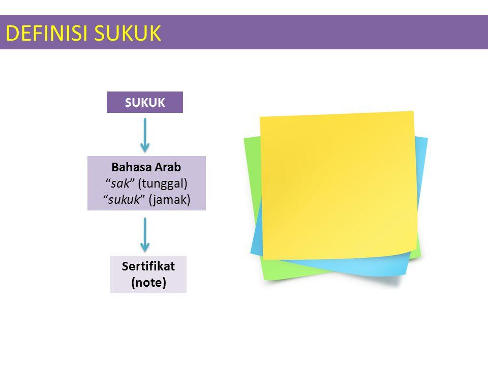 DEFINISI SUKUK SUKUK Bahasa Arab sak (tunggal) sukuk (jamak)