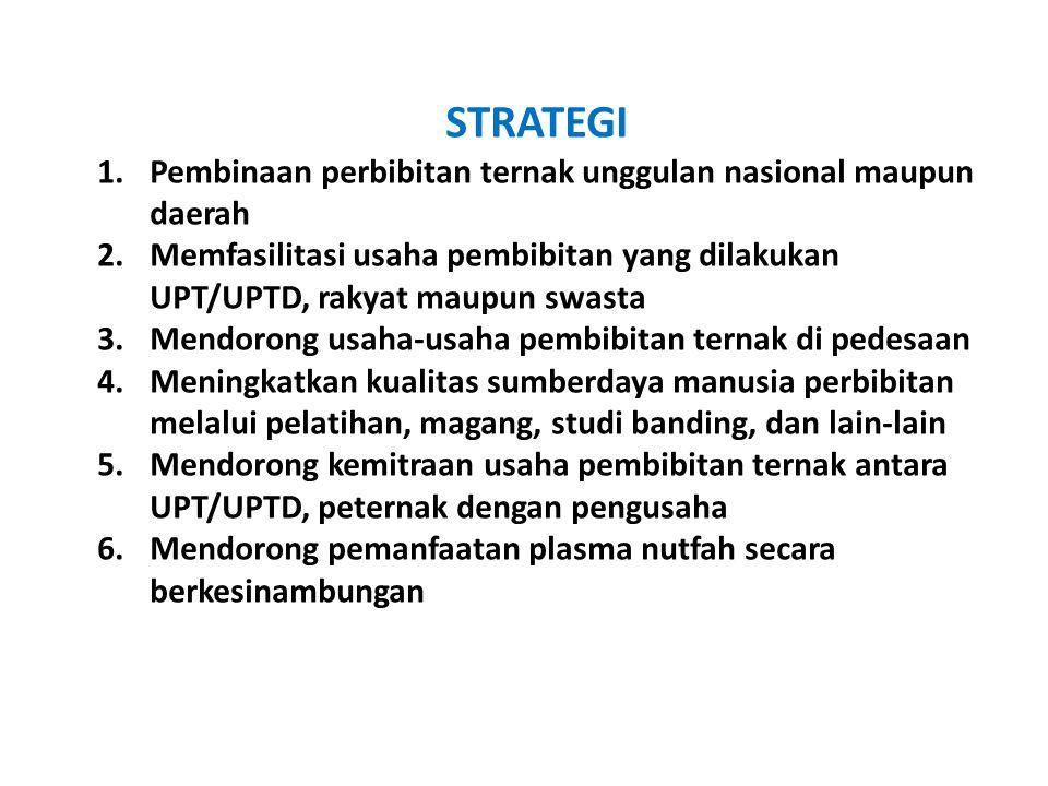 STRATEGI Pembinaan perbibitan ternak unggulan nasional maupun daerah