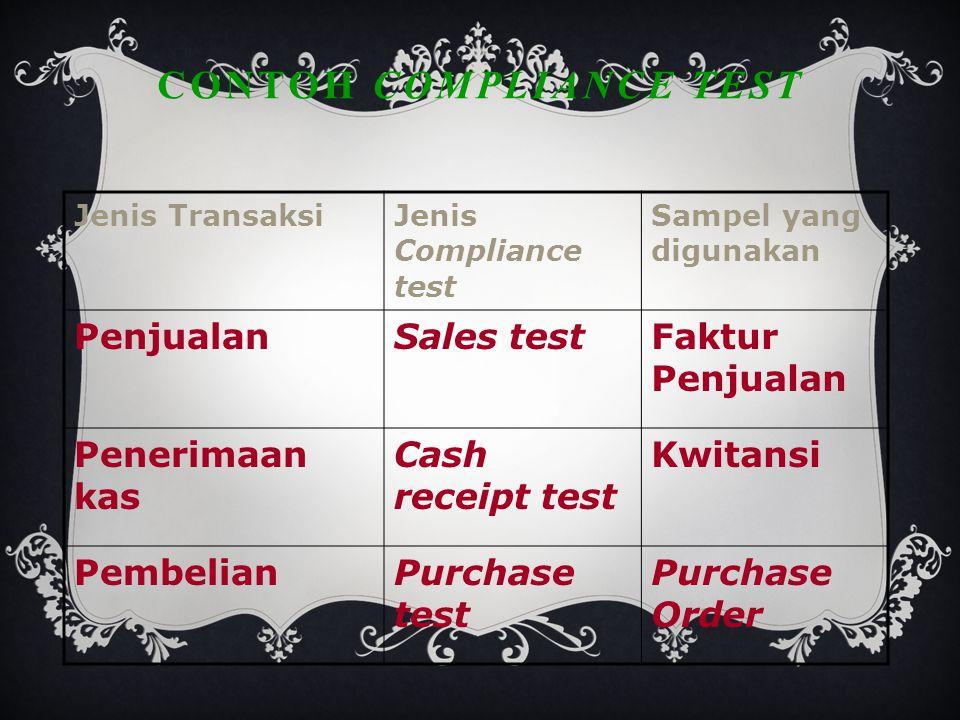 Contoh Compliance test