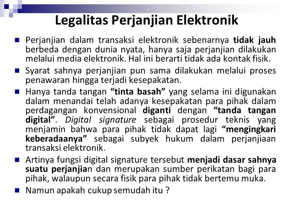 Legalitas Perjanjian Elektronik