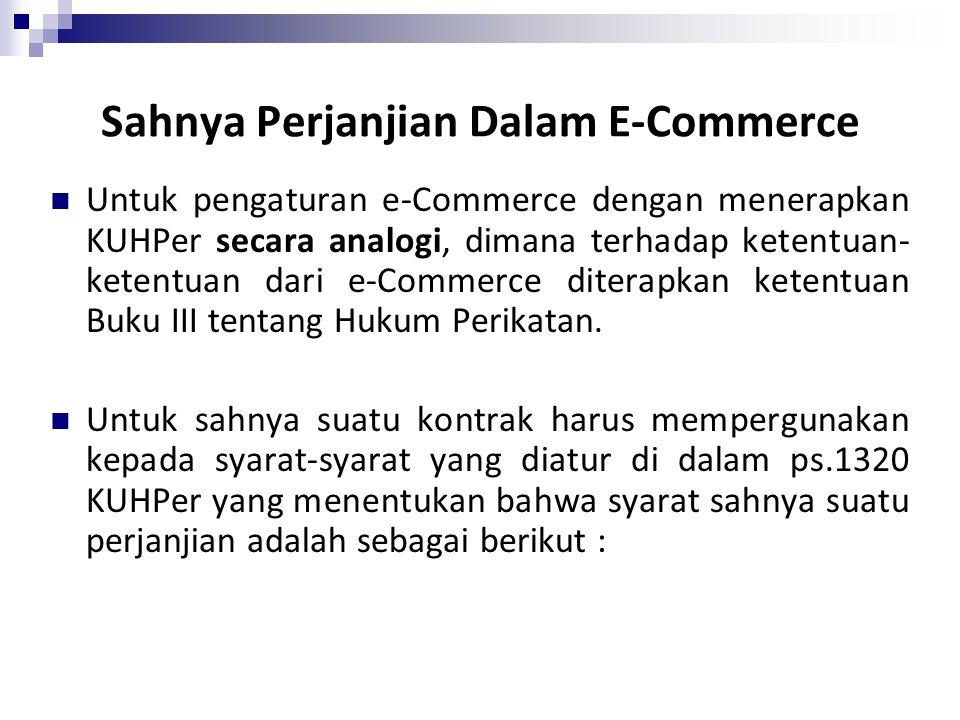 Sahnya Perjanjian Dalam E-Commerce