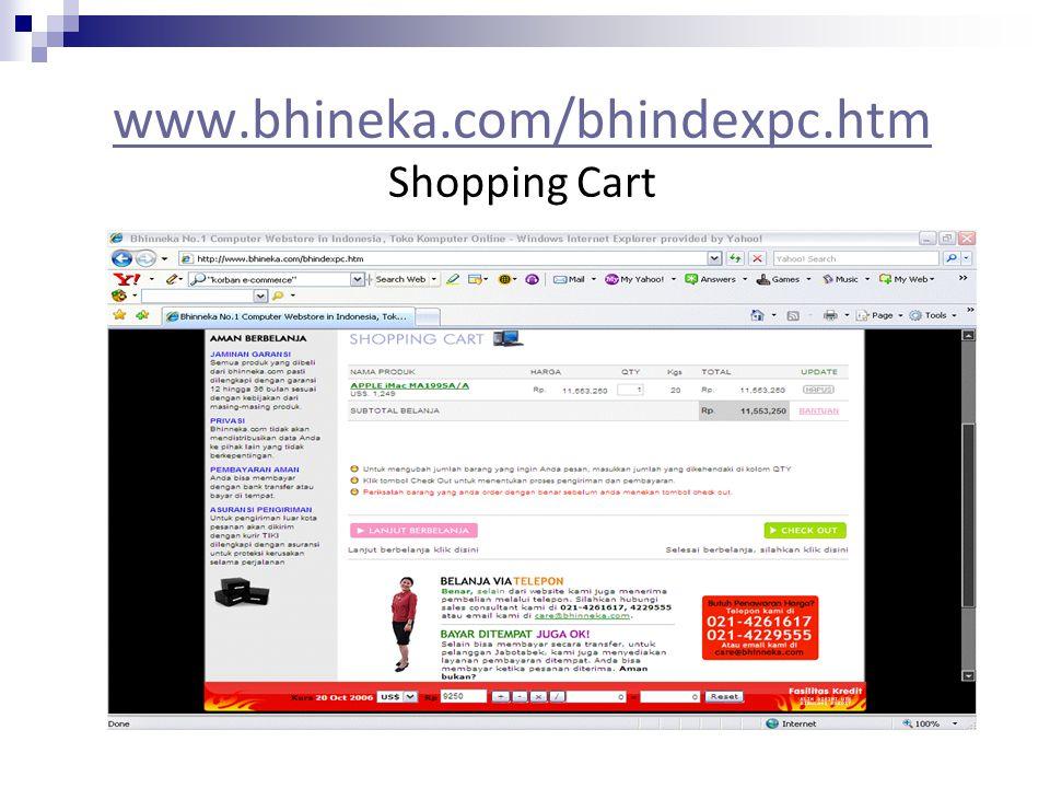 www.bhineka.com/bhindexpc.htm Shopping Cart