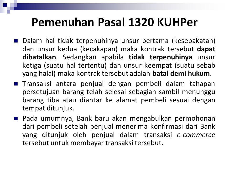 Pemenuhan Pasal 1320 KUHPer