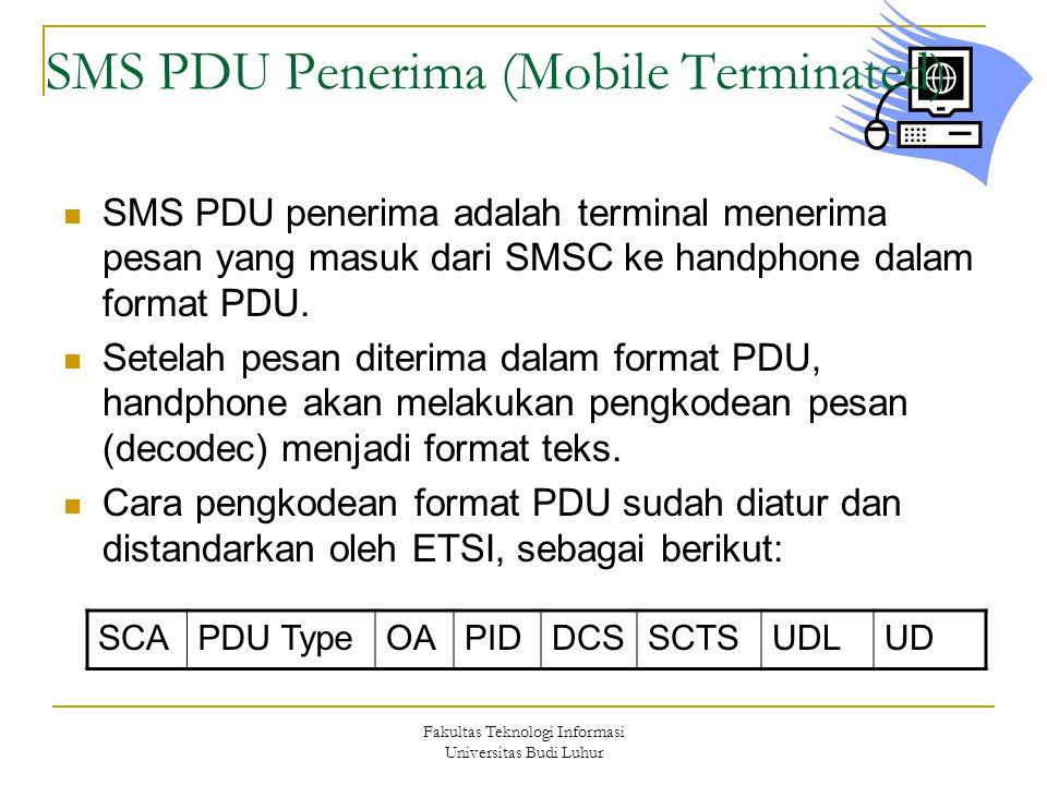SMS PDU Penerima (Mobile Terminated)
