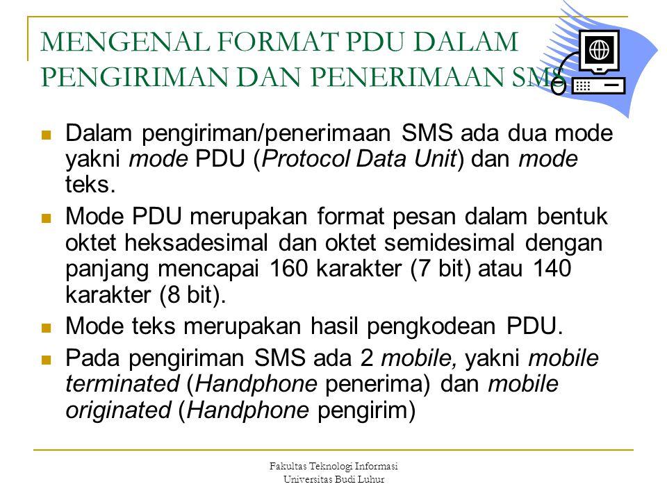 MENGENAL FORMAT PDU DALAM PENGIRIMAN DAN PENERIMAAN SMS