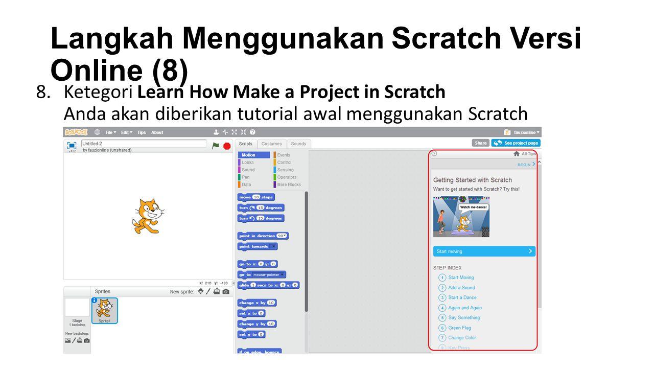 Langkah Menggunakan Scratch Versi Online (8)