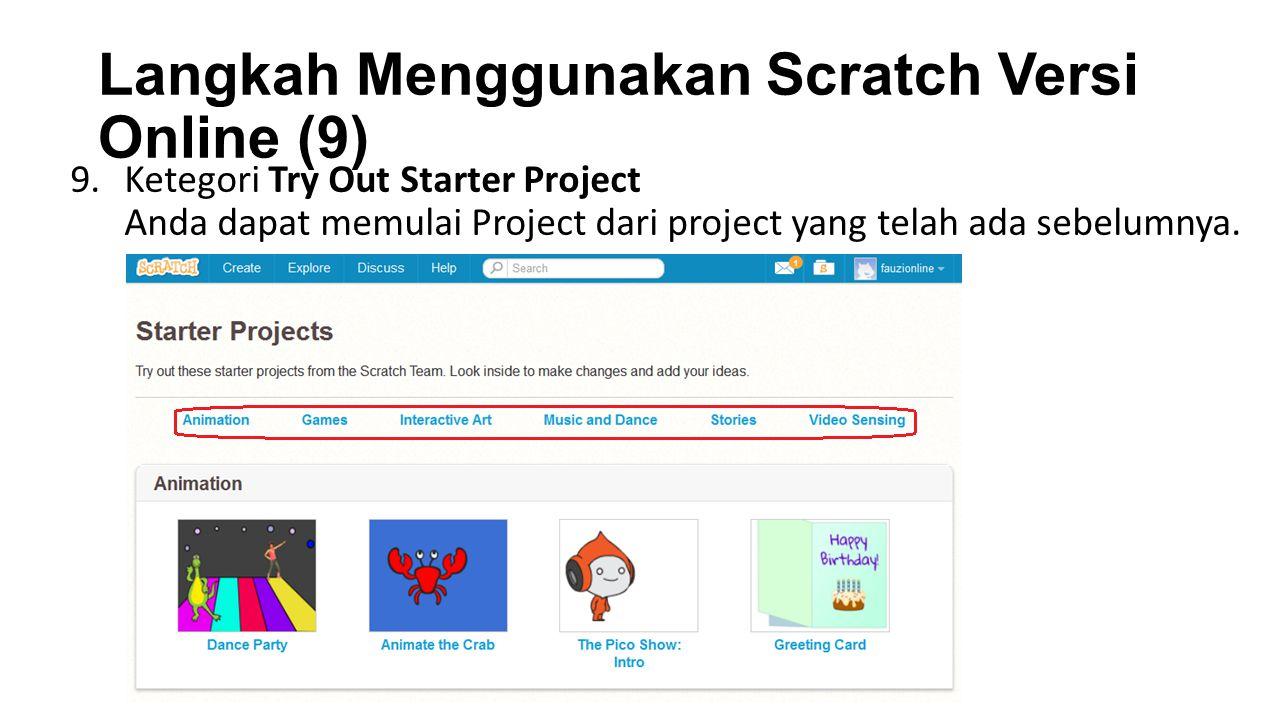 Langkah Menggunakan Scratch Versi Online (9)