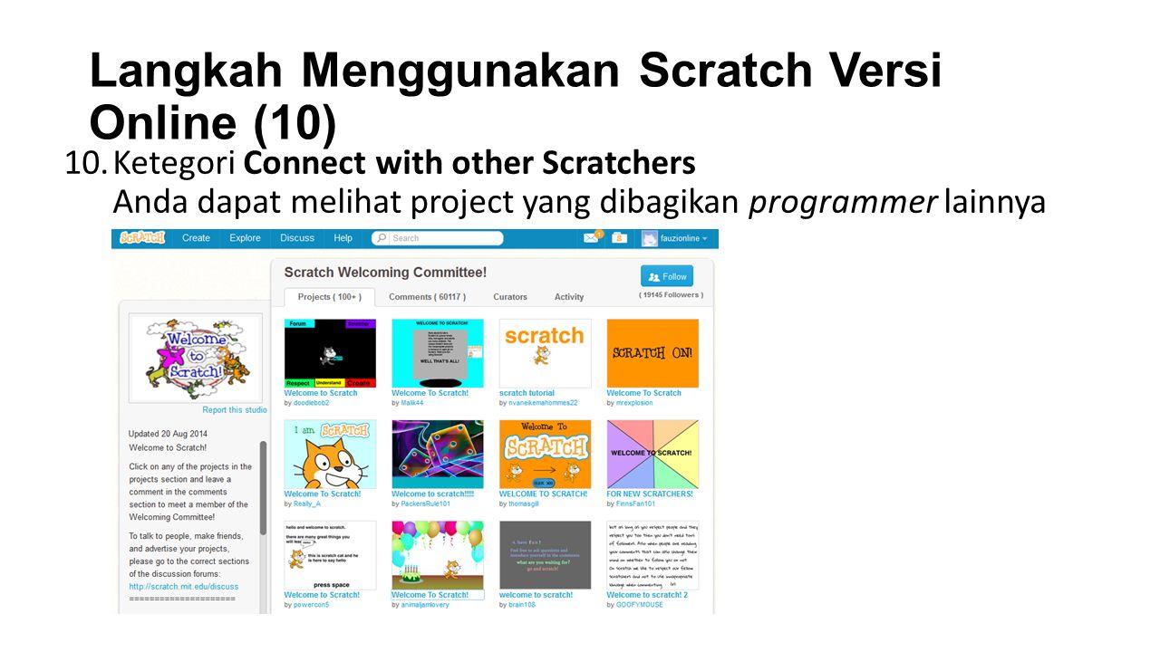 Langkah Menggunakan Scratch Versi Online (10)