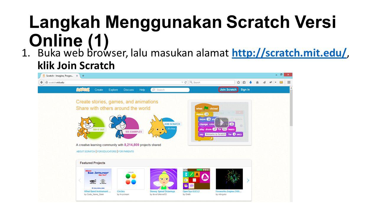 Langkah Menggunakan Scratch Versi Online (1)