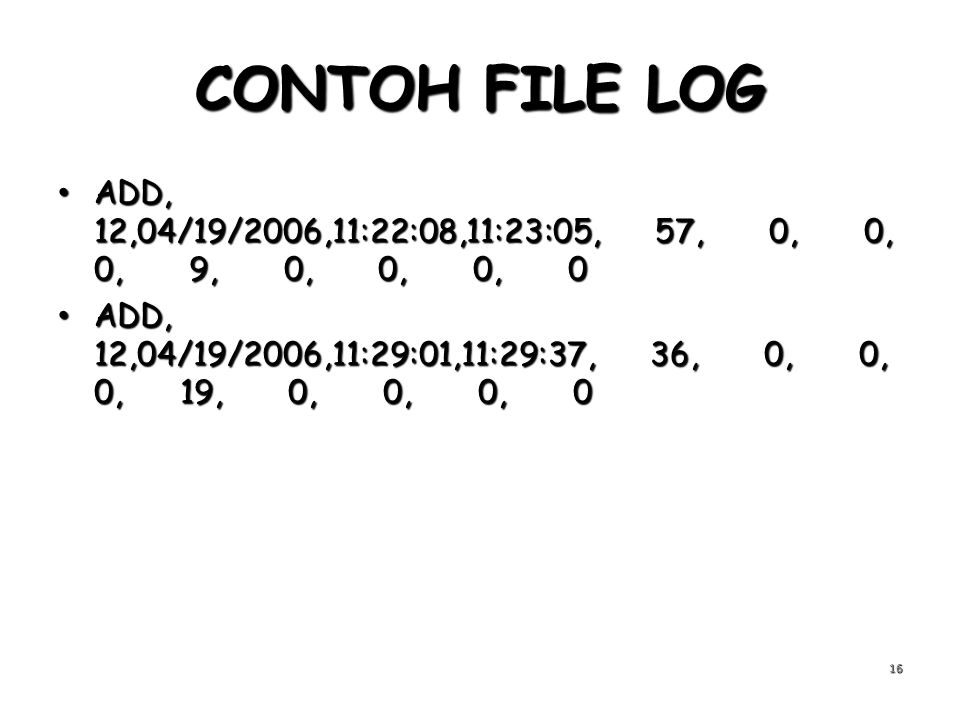 CONTOH FILE LOG