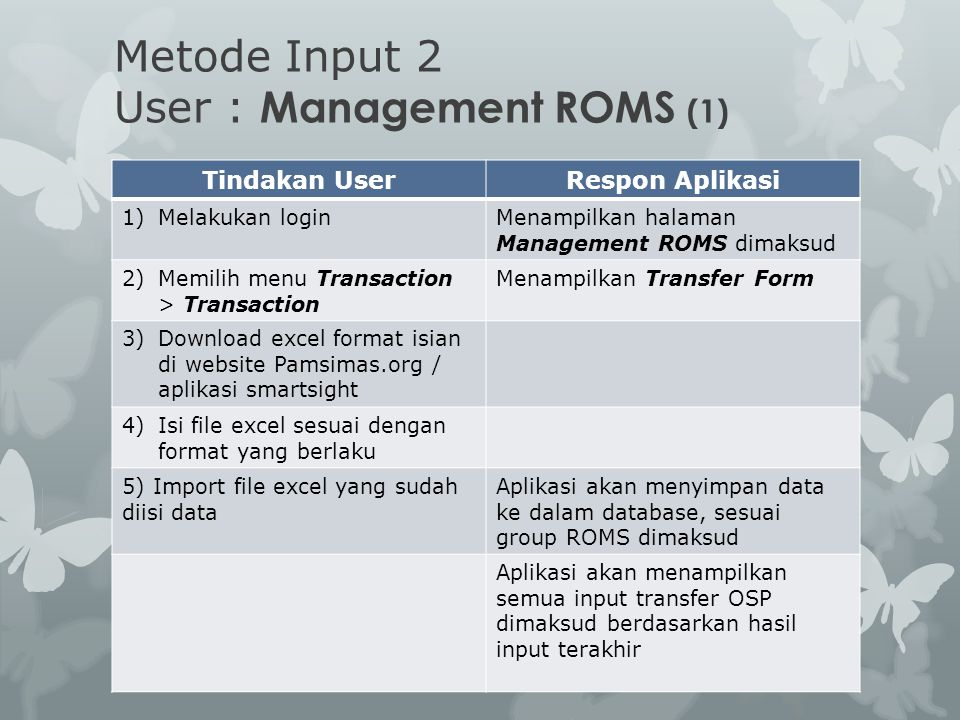 Metode Input 2 User : Management ROMS (1)