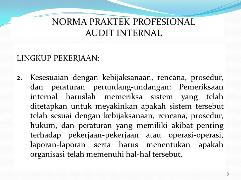 NORMA PRAKTEK PROFESIONAL