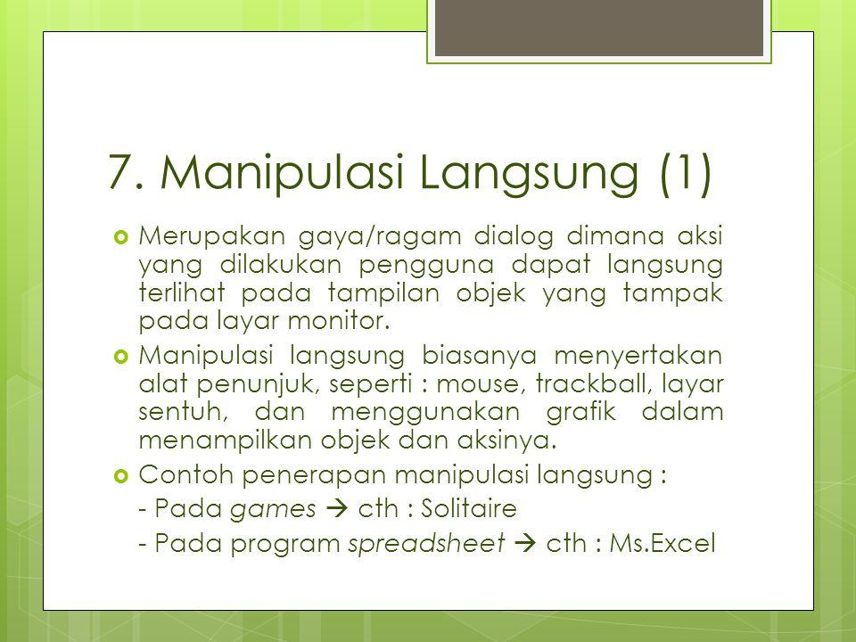 7. Manipulasi Langsung (1)