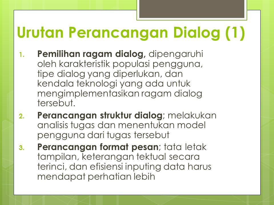 Urutan Perancangan Dialog (1)