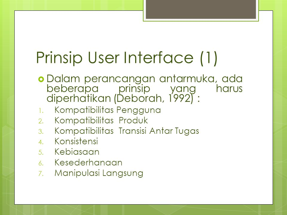 Prinsip User Interface (1)